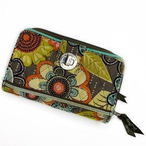 Vera Bradley Flower Shower Zip Around Lock Wallet